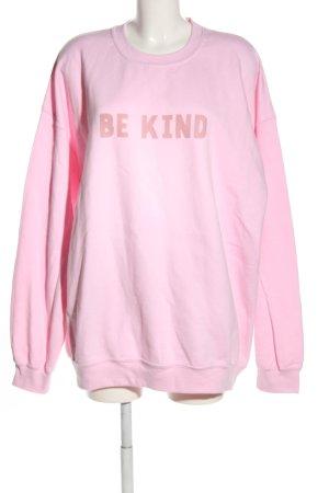 Gildan Sweatshirt pink Schriftzug gedruckt Casual-Look