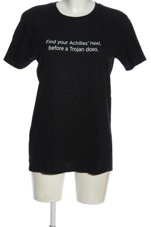 Gildan T-Shirt black printed lettering casual look