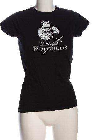 Gildan T-Shirt black-white themed print casual look