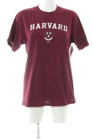 Gildan T-Shirt brombeerrot Casual-Look