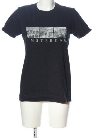 Gildan T-Shirt black themed print casual look