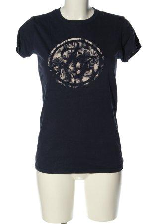Gildan T-Shirt blue themed print casual look