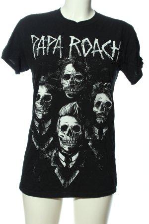 Gildan T-Shirt schwarz-weiß Motivdruck Casual-Look