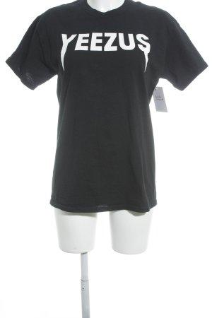 Gildan T-Shirt schwarz-weiß sportlicher Stil