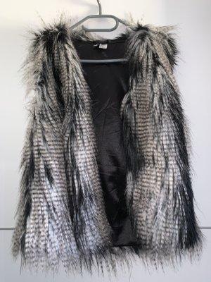 H&M Fake Fur Vest multicolored