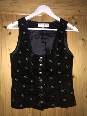 Allwerk Tradycyjna bluzka czarny-leśna zieleń