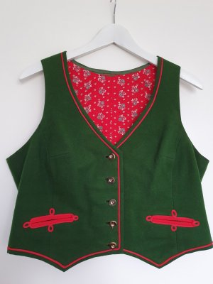 Traditional Vest brick red-forest green