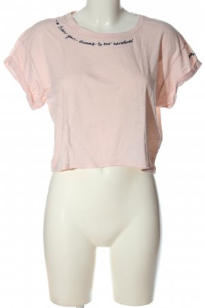 Gilly Hicks T-shirt court rose lettrage imprimé style décontracté