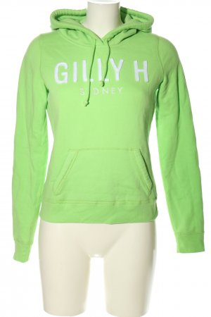 Gilly Hicks Hooded Sweatshirt green printed lettering casual look