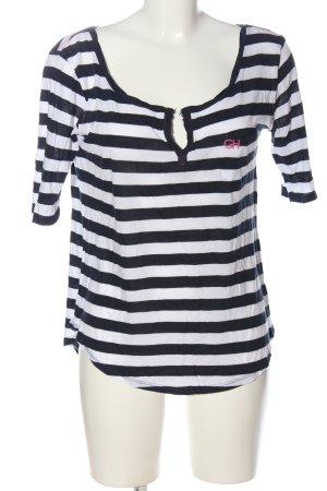 Gilly Hicks Ringelshirt schwarz-weiß Streifenmuster Casual-Look