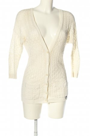 Gilly Hicks Strick Cardigan wollweiß Zopfmuster Casual-Look