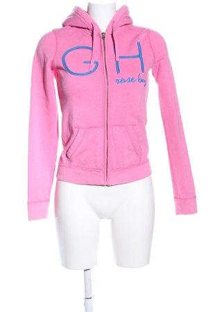 Gilly Hicks Veste sweat rose lettrage imprimé style décontracté