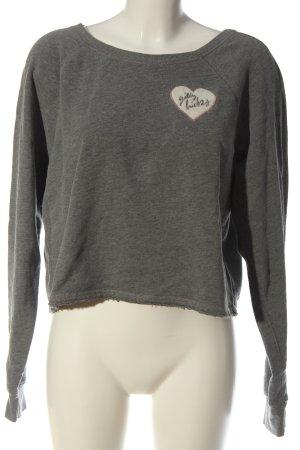 Gilly Hicks Sweatshirt gris clair moucheté style décontracté