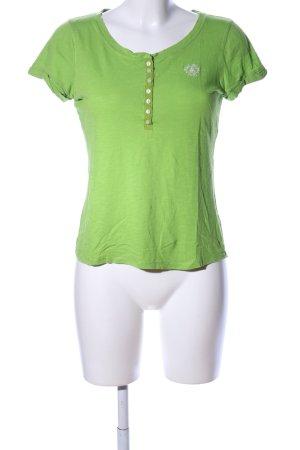 Gilly Hicks T-Shirt grün Schriftzug gestickt Casual-Look