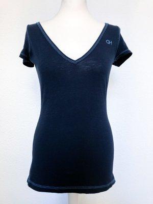 Gilly Hicks T-Shirt mit V-Ausschnitt, Gr. M
