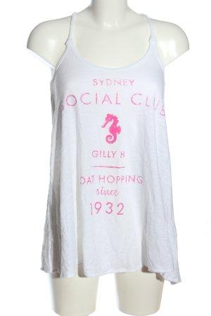 Gilly Hicks Tanktop weiß-pink Motivdruck Casual-Look