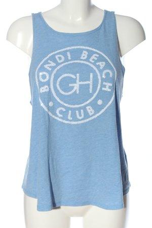 Gilly Hicks Trägertop blau-weiß Motivdruck Casual-Look