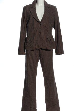 Gin Tonic Tailleur pantalone marrone stampa integrale stile professionale