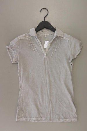 Gin Tonic Poloshirt Größe S Kurzarm grau aus Baumwolle