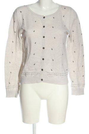 Gin Tonic Cardigan in maglia bianco sporco-nero stampa integrale stile casual