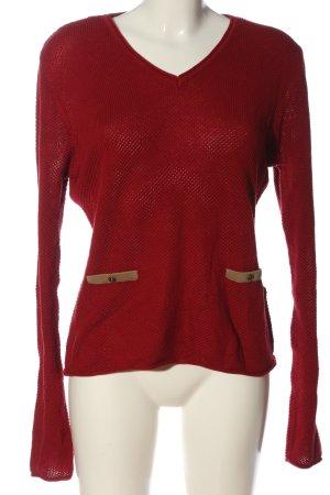 Gin Tonic Maglione lavorato a maglia rosso stile casual