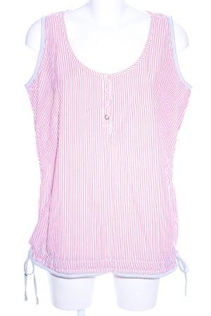 Gin Tonic Trägertop pink-weiß Streifenmuster Casual-Look