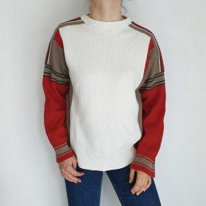 Gin Tonic weiß Cardigan Strickjacke Oversize Pullover Hoodie Pulli Sweater Top True Vintage
