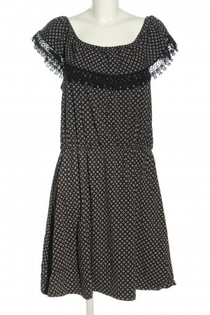Gina A-Linien Kleid schwarz-weiß Allover-Druck Casual-Look