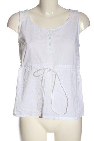 Gina Blusa senza maniche bianco stile casual