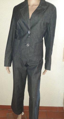 Gina B Tailleur-pantalon argenté coton
