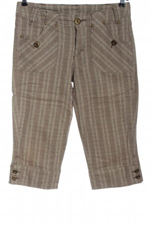 Gina Benotti 3/4 Length Trousers brown-natural white check pattern casual look