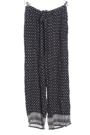 Gina Benotti Baggy broek zwart-lichtgrijs volledige print casual uitstraling