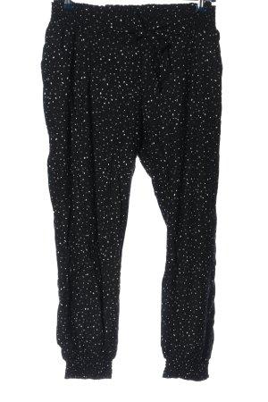 Gina Benotti Baggy Pants schwarz-weiß Allover-Druck Casual-Look