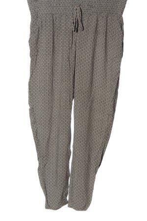 Gina Benotti Luźne spodnie czarny-kremowy Na całej powierzchni W stylu casual
