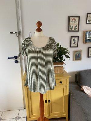 Gina Benotti Ernstings Family T-Shirt M 40 42 grün weiß gestreift