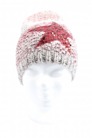 Gina Benotti Crochet Cap pink-natural white flecked casual look