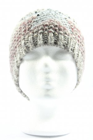 Gina Benotti Crochet Cap light grey-pink flecked casual look