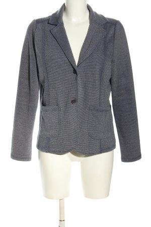 Gina Benotti Jersey Blazer gris claro-blanco moteado look casual