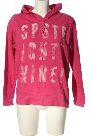 Gina Benotti Sweatshirt met capuchon roze-wit gedrukte letters