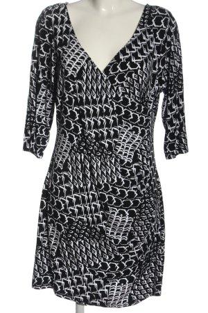 Gina Benotti Kurzarm-Bluse schwarz-weiß abstraktes Muster Casual-Look