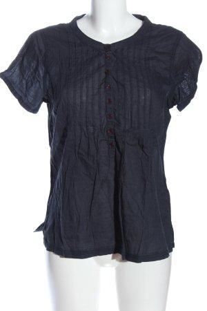 Gina Benotti Kurzarm-Bluse blau Casual-Look