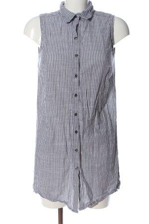 Gina Benotti Kurzarmhemd hellgrau-weiß Streifenmuster Casual-Look