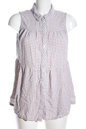 Gina Benotti Camisa de manga corta blanco puro-blanco estampado a cuadros
