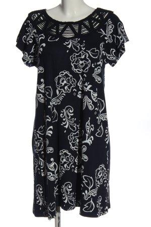 Gina Benotti Kurzarmkleid schwarz-weiß abstraktes Muster Casual-Look