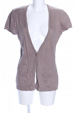 Gina Benotti Short Sleeve Knitted Jacket pink flecked casual look