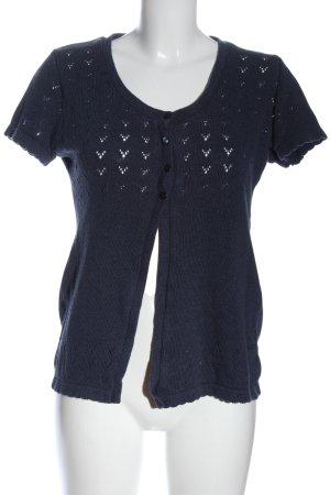 Gina Benotti Short Sleeve Knitted Jacket blue casual look