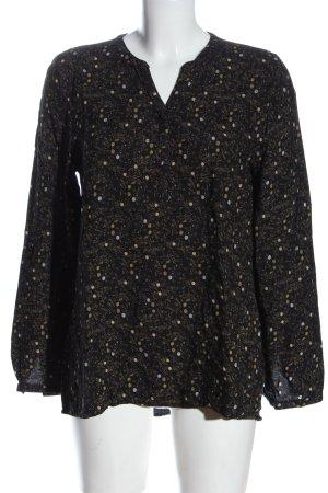 Gina Benotti Long Sleeve Blouse black-natural white abstract pattern