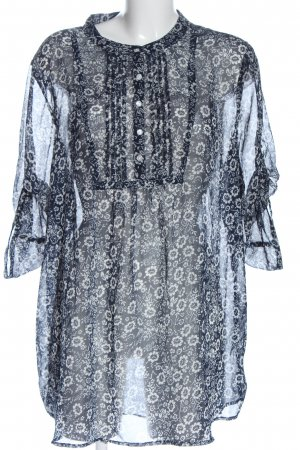 Gina Benotti Long Sleeve Blouse blue-white allover print casual look