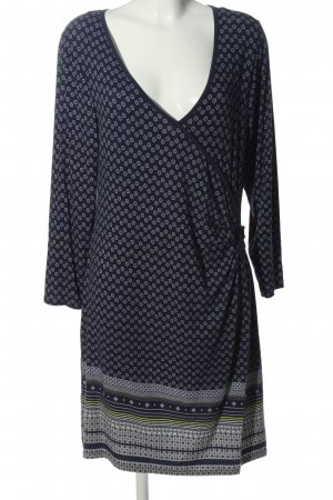 Gina Benotti Langarmkleid blau abstraktes Muster Casual-Look
