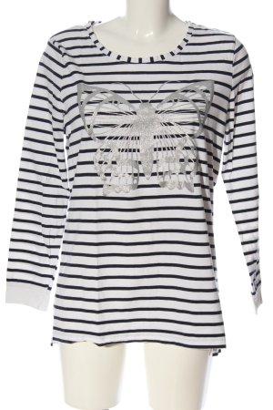 Gina Benotti Longsleeve weiß-schwarz Motivdruck Casual-Look